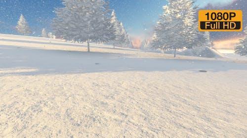 Christmas Snow Tree Background