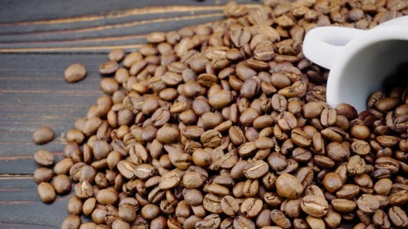 Thumbnail for Roasted Coffee Beans on Wooden Background
