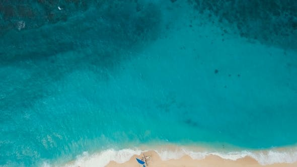Thumbnail for Aerial View Beautiful Beach on Tropical Island. Boracay Island Philippines