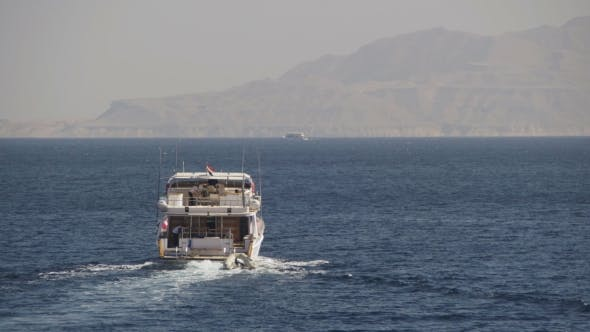 Thumbnail for Cruise Boat Floats in the Red Sea