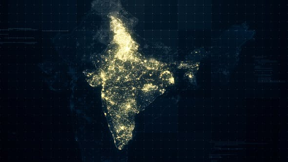 Thumbnail for India Map Night Lighting Rollback HD