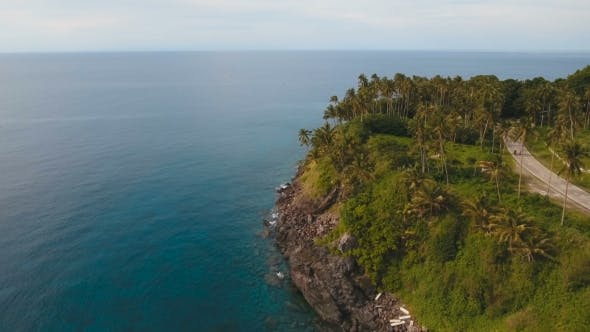 Thumbnail for Aerial View Beautiful Coastline on the Tropical Island. Camiguin Island Philippines.