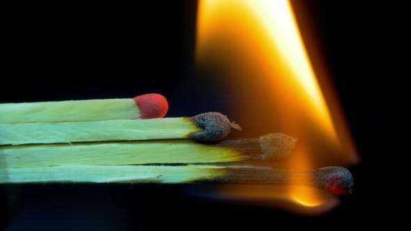Thumbnail for Burning Matches, Chain Reaction And Flame