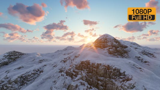 Thumbnail for Time-lapse Mountain and Sun Sky