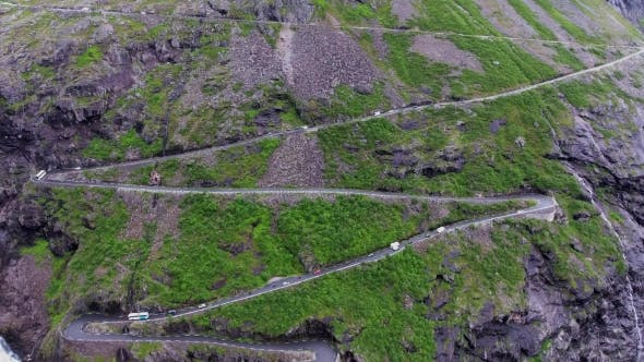 Thumbnail for Troll's Path Trollstigen or Trollstigveien Winding Mountain Road