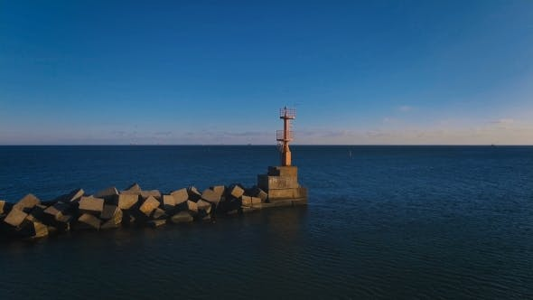 The Flight To the Lonely Lighthouse in the Ocean . Leading Beacons. .