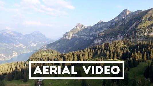 Thumbnail for Revealing Aerial Shot of a Swiss Mountain Range