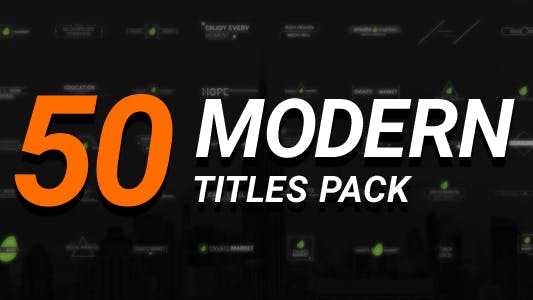Thumbnail for 50 Modern Titles Pack