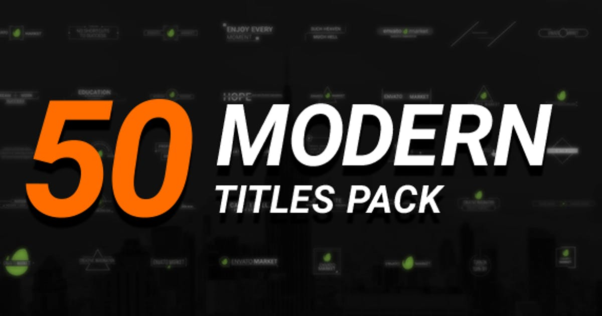 Download 50 Modern Titles Pack by MotionTheoryStudio