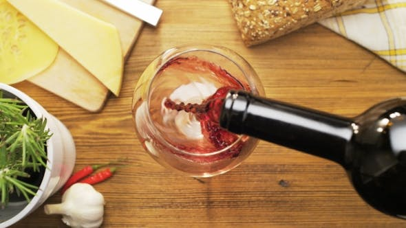 Thumbnail for Pouring Red Wine Into a Glass