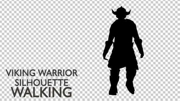 Thumbnail for Viking Warrior Silhouette Walking