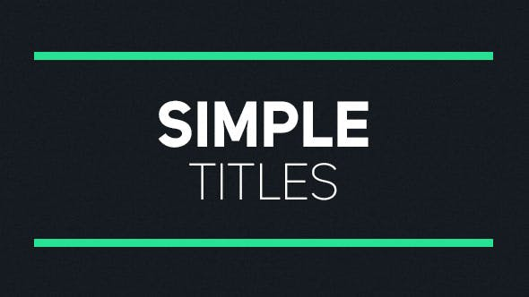 Thumbnail for Simple Titles