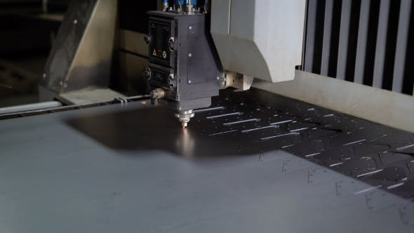 Thumbnail for High Precision CNC Laser Cutting Metal Sheet. Modern Technologies Allow To Receive High-precision