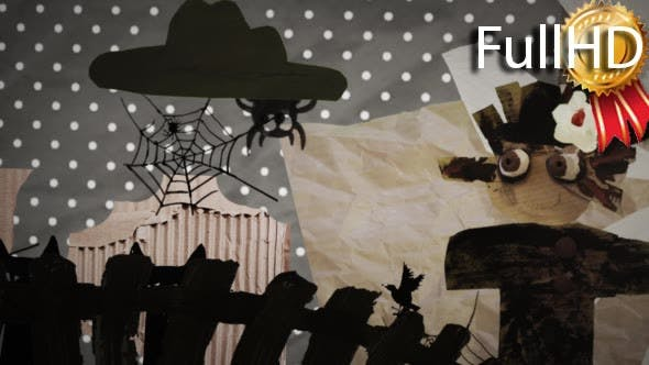 Thumbnail for Haloween Funny Scarecrow at the Yard Fence Sun