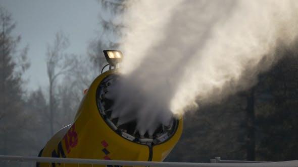 Snow Blower in Alpen Ski Resort