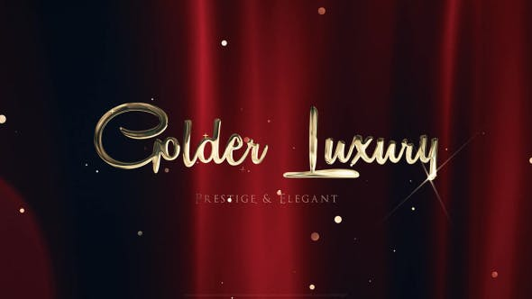 Thumbnail for Golden Luxury Red Carpet Titles