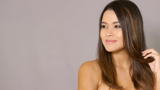 Thumbnail for Gorgeous Topless Woman Looking To the Side