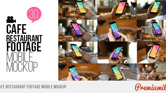 Thumbnail for Cafe Restaurant Footage Mobile Mockup