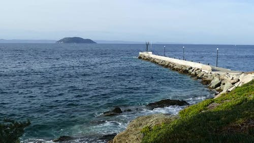 Pier in to the Mediterranean Sea at Neo Marmaras