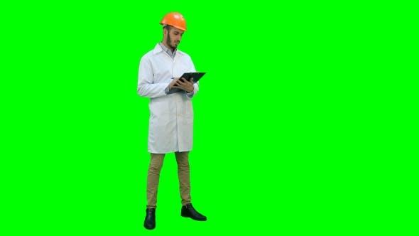 Thumbnail for Civil Engineer in White Coat Preparing Report