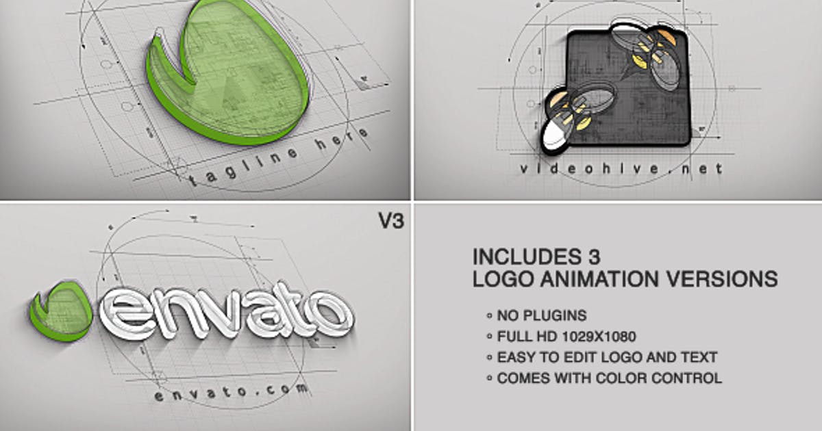 Download Architect Logo Reveal (3 versions) by piktufa