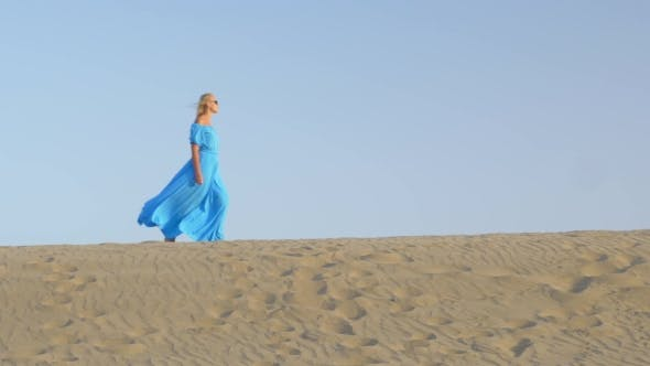 Thumbnail for Woman Walking on Beach Skyline