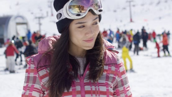 Thumbnail for Young Woman on Skiing Holiday