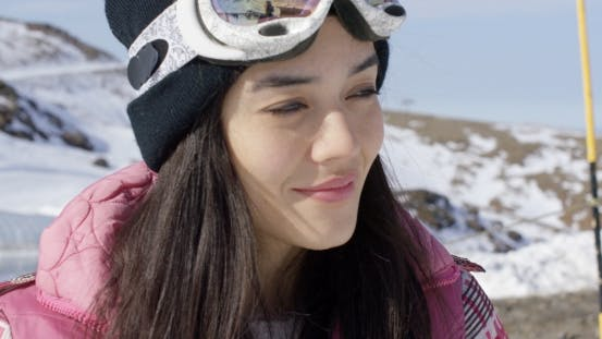 Thumbnail for Smiling Young Woman on Skiing Holiday