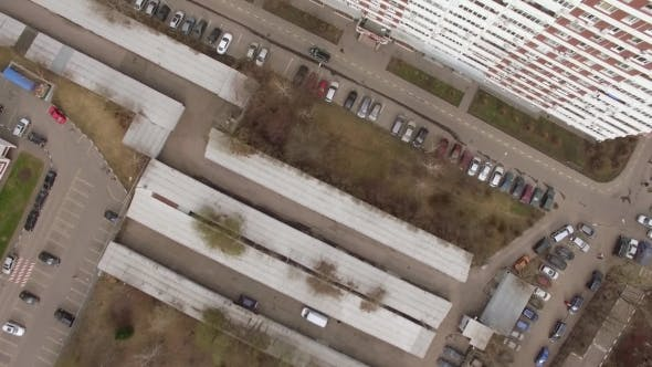 Thumbnail for Aerial View of Sleeping Buildings and Complexes with Yard and Playground