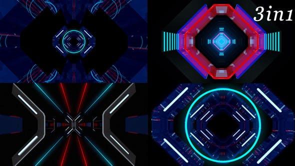 Thumbnail for Neon Gate - VJ Loop Pack (3in1)