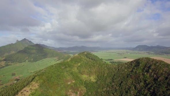 Thumbnail for Aerial Scene of Green Mauritius Mainland