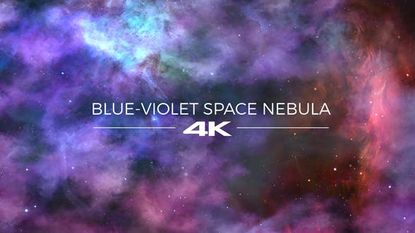 Thumbnail for Blue-Violet Space Nebula Background