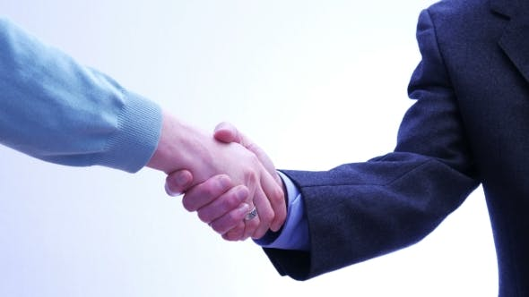 Business Partners Handshake - Men and Women