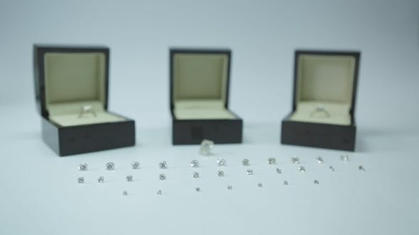 Thumbnail for Luxury Diamonds On White Background