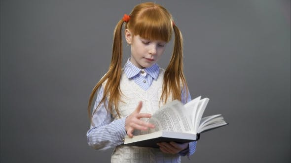 Thumbnail for Beautiful Girl Is Reading the Book