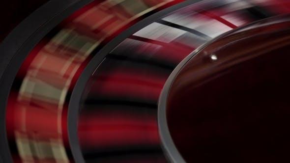 Thumbnail for Fast Running Wheel of Roulette, White Ball Falls,