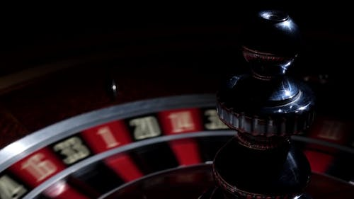 Roulette Wheel Fast Running with White Ball