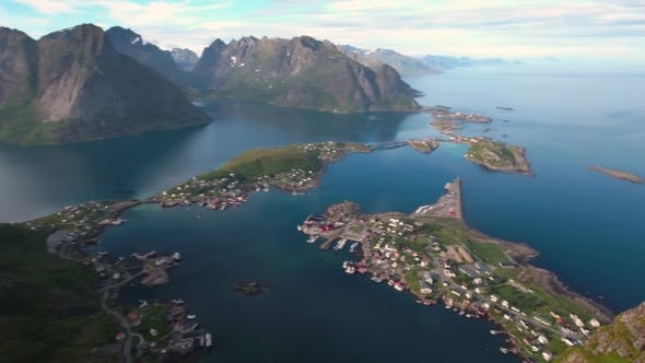 Thumbnail for Lofoten Archipelago Islands Aerial Footage