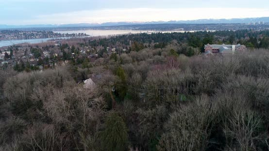 Thumbnail for Seattle To Bellevue Landscape Over Lake Washington
