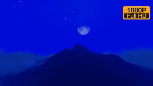 Thumbnail for Mountains and Time-lapse Night Sky Clouds