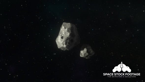 Thumbnail for Asteroids Travelling Through Space