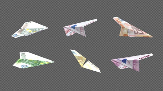 Thumbnail for Paper Airplane - Euro Bills - Pack of 6