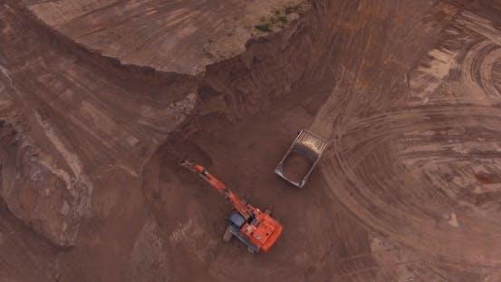 Thumbnail for Loading Sand Excavating in Heavy Trucks