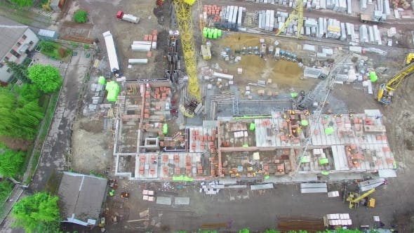 Thumbnail for Construction Site In The City Aerial View