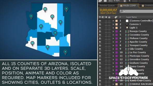 Thumbnail for Arizona Map Kit