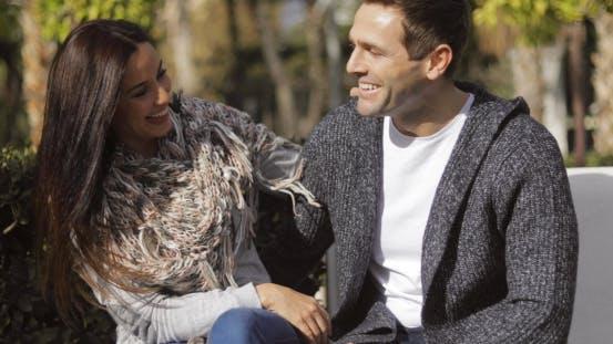 Thumbnail for Happy Young Couple Enjoying the Autumn Sunshine