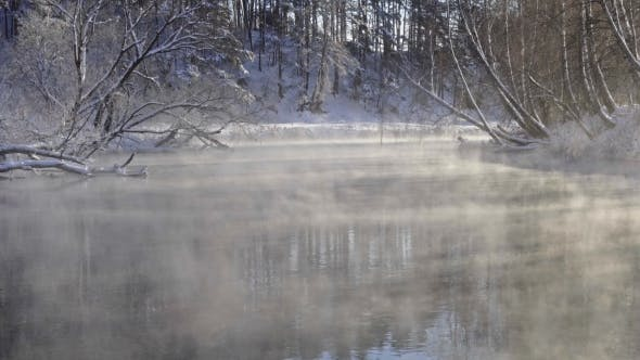 Thumbnail for Steam Over the Water in Winter