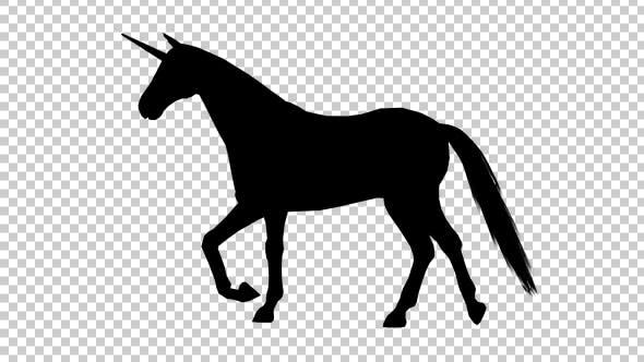 Thumbnail for Unicorn Silhouette Walking