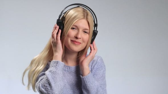 Thumbnail for Pretty Hipster Girl Going Crazy of Favorite Music