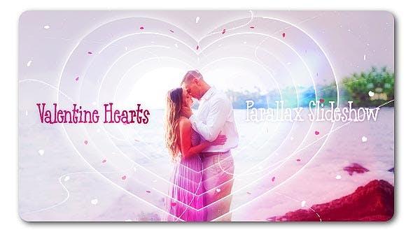 Thumbnail for Valentine Hearts | Parallax Slideshow